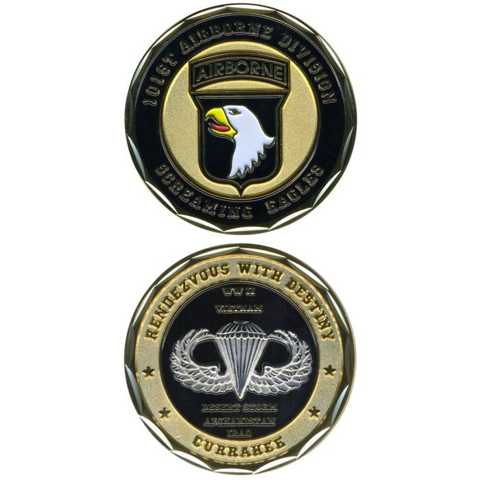 101st Airborne Division / U S  Army Screaming Eagles Challenge Coin 2260