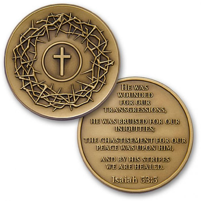 Crown of Thorns / Isaiah 53:3 Challenge Coin