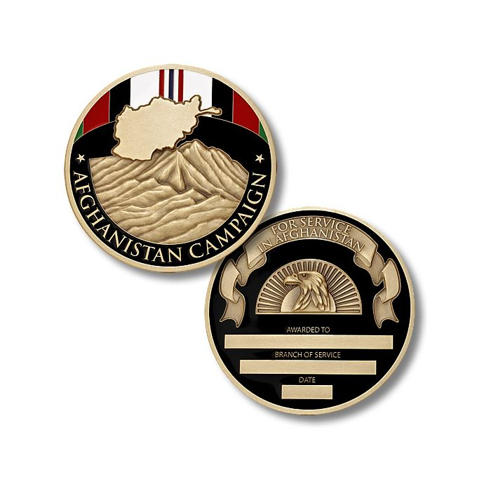 U S  Armed Forces / Afghanistan Campaign Service Medal - Challenge Coin