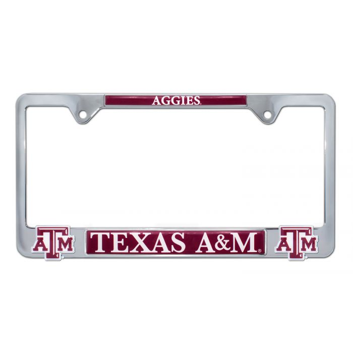 Texas A/&M Reflective Domed Auto Decal